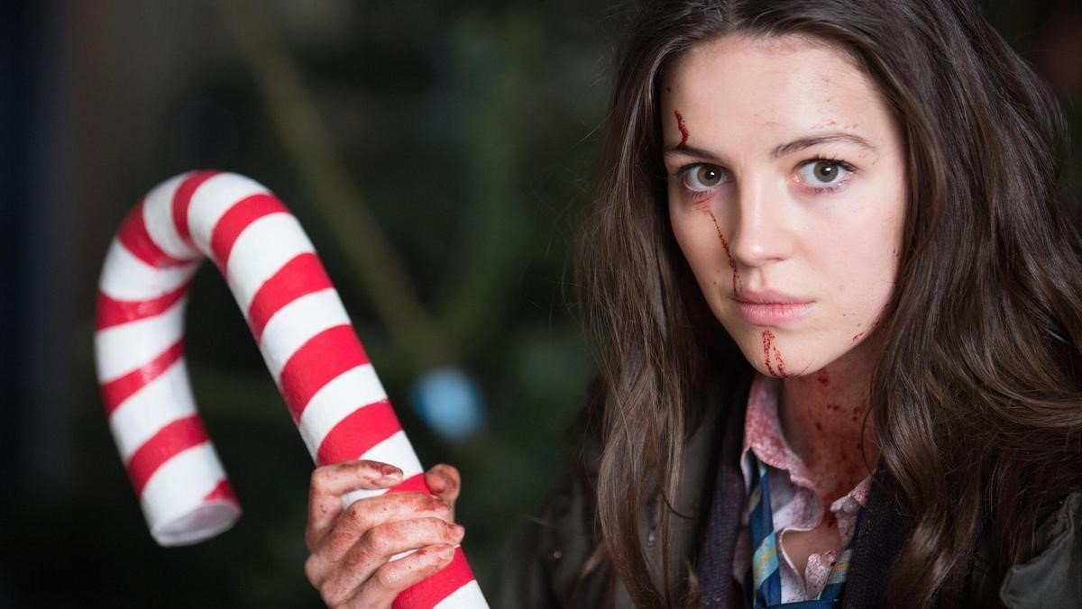 Anna and her candy cane