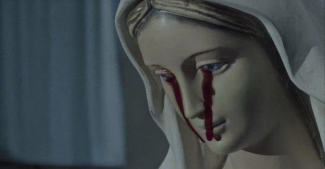Statue cries blood