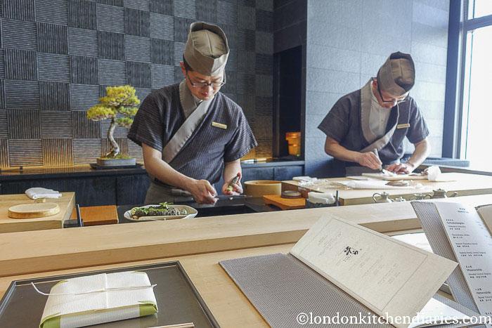 Sushi Soba at the Mandarin Oriental, Tokyo