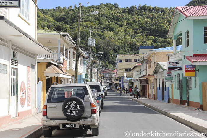 Streets of Soufriere St Lucia Carribean