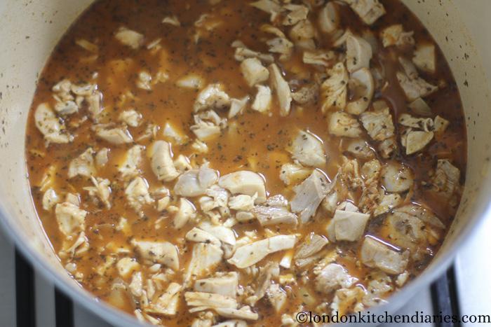 Leftover Roast Chicken in juicy paprika sauce-11