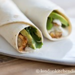 Healthy Avocado & Breaded Fish Wraps
