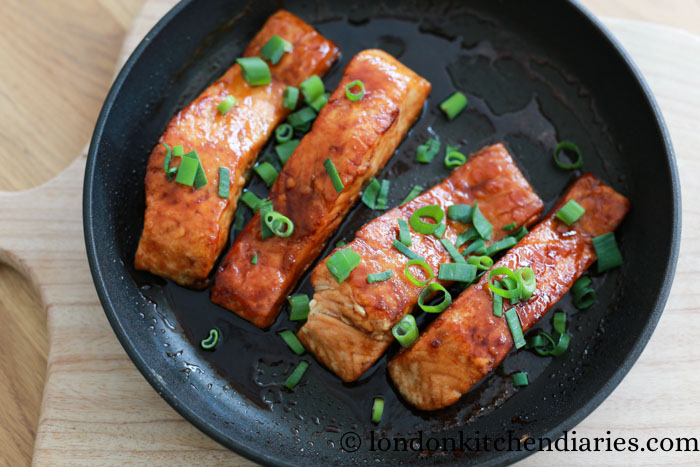 Teriyaki Salmon pan fried