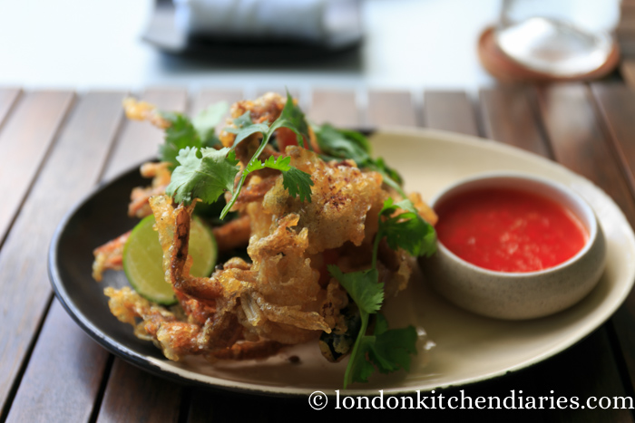 Soft Shell Crab with red nahmjim