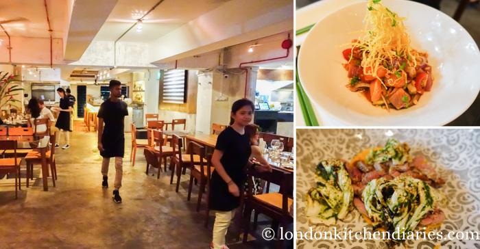 Trendy restaurant Kilo in Singapore