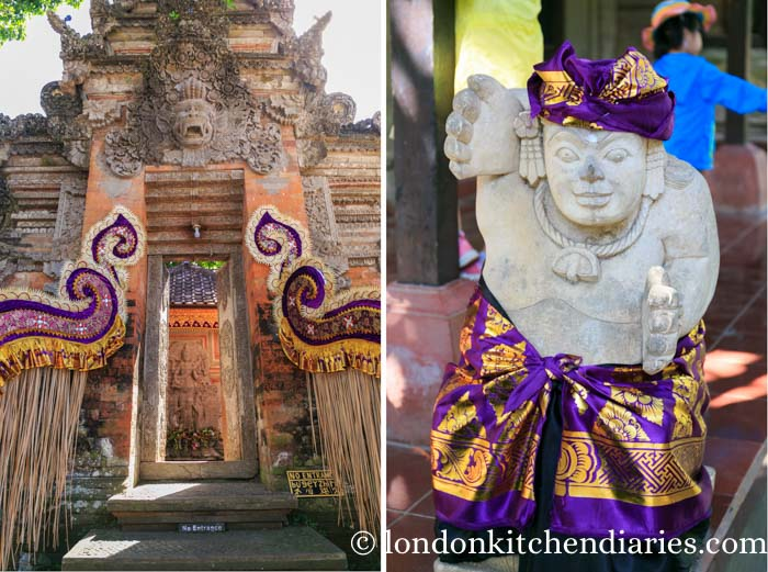 Gate and statue at Ubud Palace - Puri Saren Agung in Bali