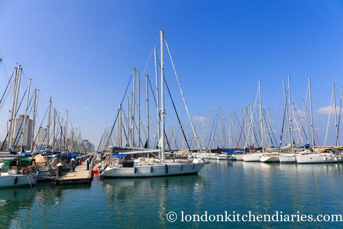 Newly developed port in Tel Aviv Israel