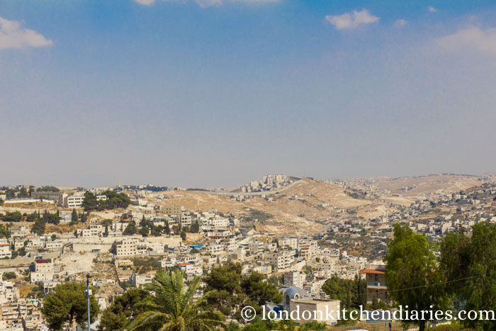 View over Jerusalem from the ramparts