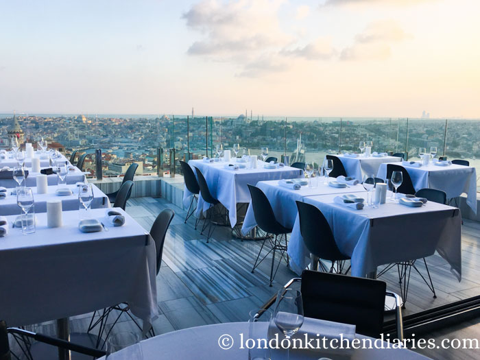 Restaurant Terrace Mikla in Istanbul Turkey