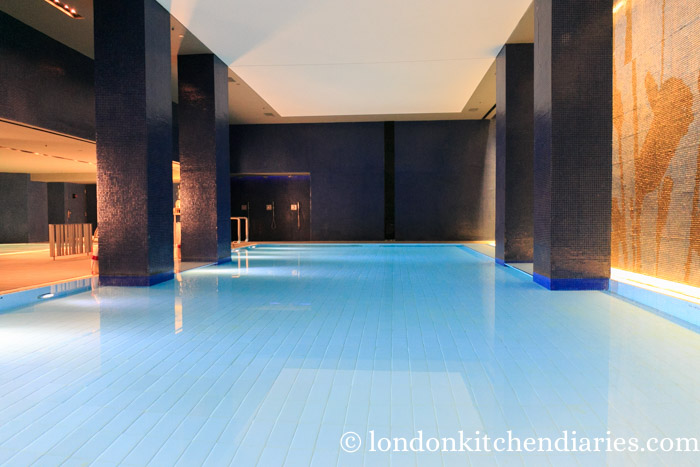 Indoor swimming pool at Mamilla Hotel Jerusalem