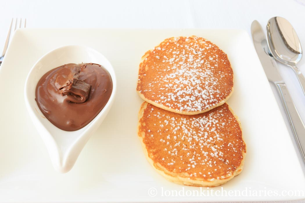 Pancakes with Nutella at Four Seasons Hotel Istanbul at the Bosphorus