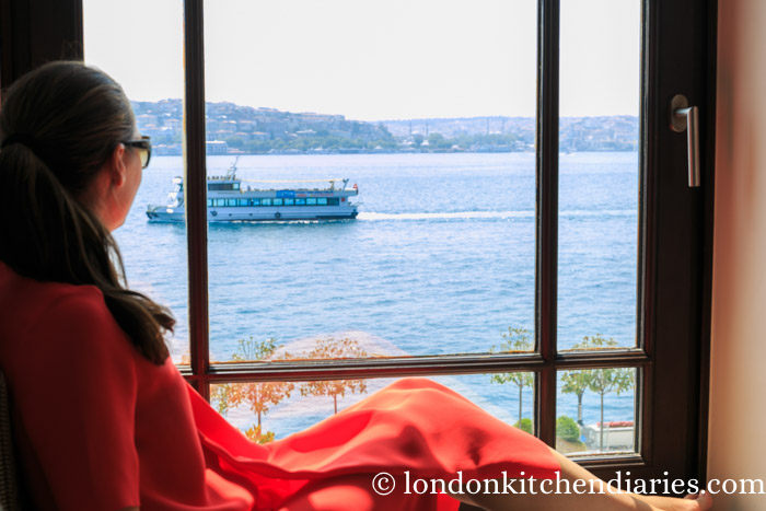 Cushioned window seats Four Seasons Hotel Istanbul at the Bosphorus