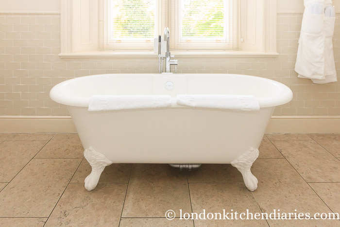 Roll-top bath at Kentisbury Suite North Devon