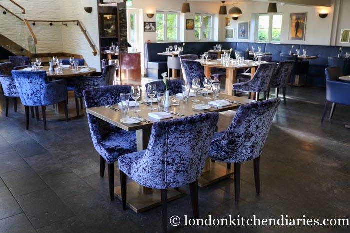 Intimate restaurant space at The Coach House North Devon