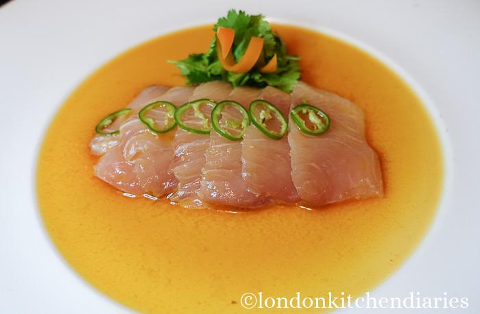 Yellowtail Sashimi Jalapeño at Matsuhisa Munich review