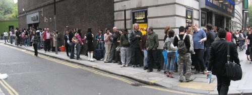 Queue for tickets