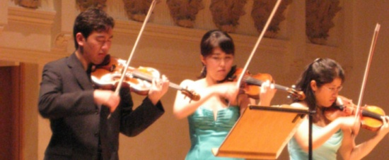 The Sejong Soloists - first violin section