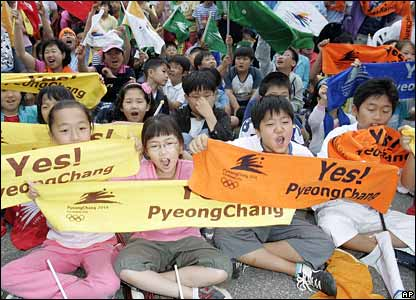 Korea, hopeful (AP, from BBC)