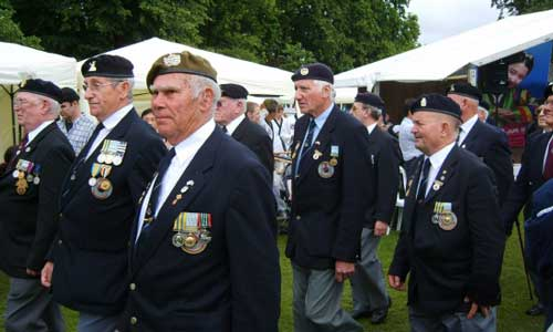 The Veterans' march-past