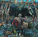 Jin Kim: Untitled, 2007, 200cm x 200cm, oil on canvas