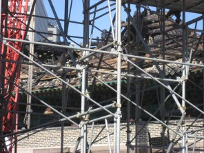 Some of the charred remains of Namdaemun, 15 Feb 2008