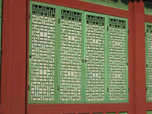 Window lattice in the Changdeokgung