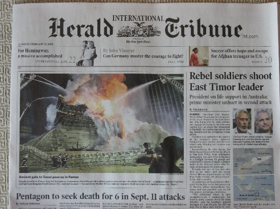 International Herald Tribune, 12 Feb