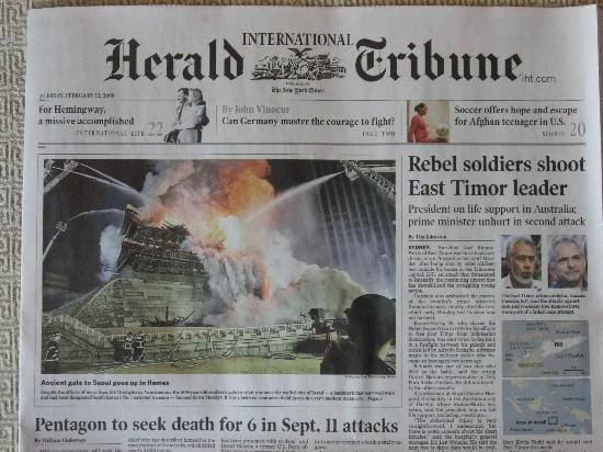 International Herald Tribune, 12 Feb