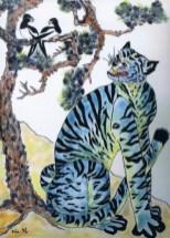 Blue Tiger. Kim So Sun 33 x 45 cm