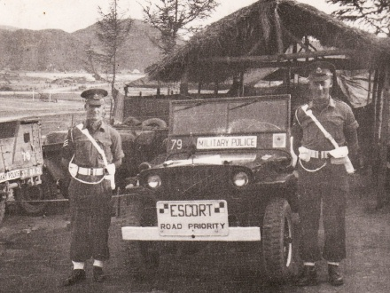 Official duty. Korea 1952