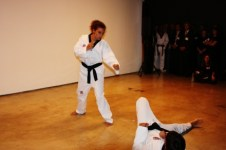 Part of the Jaguar taekwondo team (photo: Lee Hyung-wook)