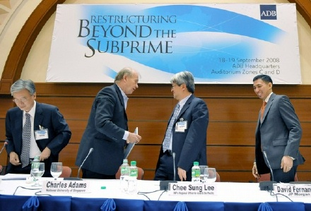 Former ROK ambassador to the UK, Dr Cho Yoon-je (far left) at the Asian Development Bank conference in Manila, 18-19 September 2008