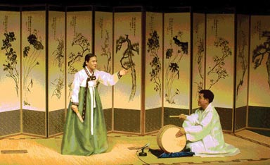 A pansori performance of Chunhyang