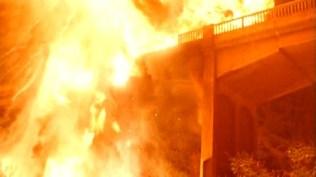 Blowing up a bridge