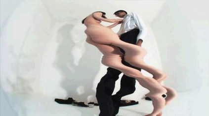 Han Keryoon, A Study on the Embarrassment of Nudity, video installation, 2007 (still)