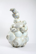Yee Sookyung, Translated Vase 12, 2007, Ceramic, trash, epoxy, gold leaf