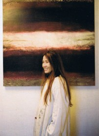 Francesca Cho dressed for work in her studio