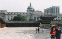 The Japanese government building from the Gyeongbokgung, 1995