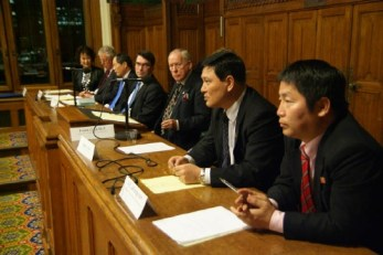 The speaker panel at the Four Ambassadors event (photo: British Korean Society)