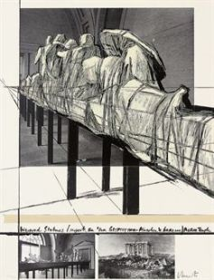 Christo - wrapped statues