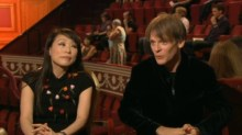 Unsuk Chin and Alban Gerhardt during the interval