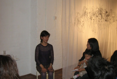 Hong Young-in in interview with Ha Ji-na, I-MYU, 1 Oct 2009