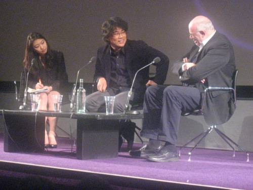 Bong Joon-ho with Tony Rayns at the BFI