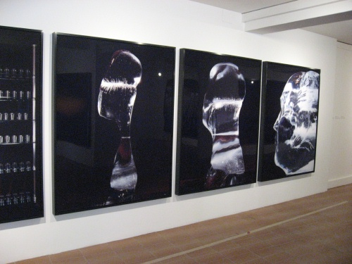 Atta Kim: Monologue of Ice: Portrait of Mao (2006), installation view