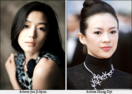 Jeon Ji-hyun and Zhang Ziyi