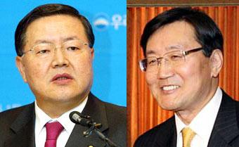 Park Hae-choon (L) and Jun Kwang-woo