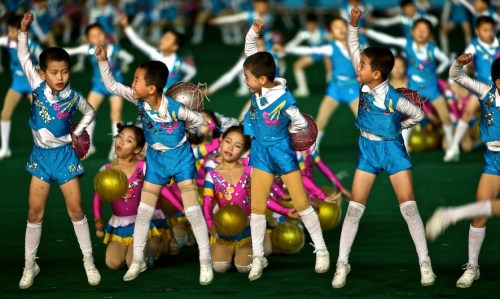 Mass Games, Pyongyang. Photo credit: Werner Kranwetvogel
