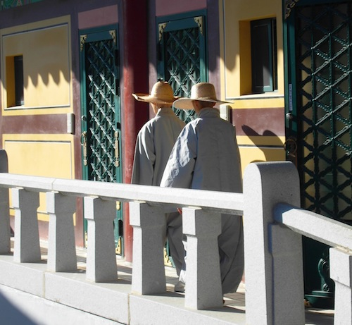 Monks in Daewonsa temple