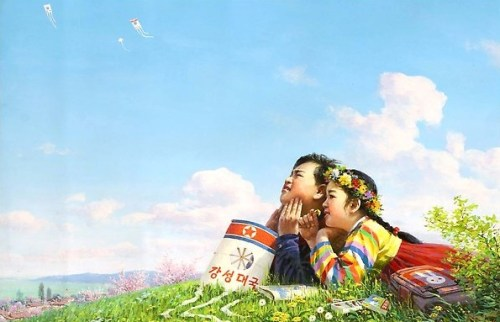 Blue Sky, by Ri Sok Nam