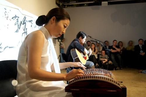 Ji-eun Jung (kayageum) with Sung-min Jeon (guitar)
